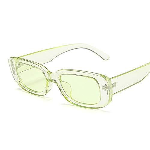 Gafas De Sol Gafas De Sol Rectangulares De Diseñador para Mujer Gafas De Montura Estrecha Pink Leopard Smalll Gafas De Sol C10Cleargreen