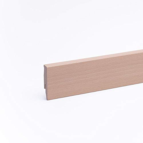 Sockelleiste - Fußleiste 60 x 20 x 2.600mm Dekor Buche hell