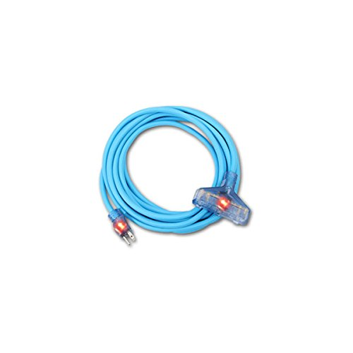 ProStar 12 Gauge SJTW 3 Conductor Extension Cord With Lighted Ends (75 ft, BLUE)