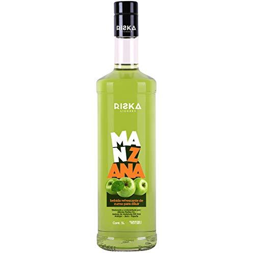 RISKA - Manzana Licor sin alcohol 1 Litro