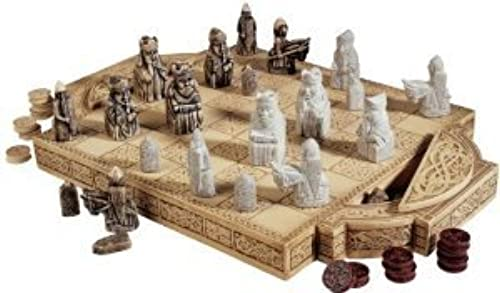 genuina alta calidad Museum Collectible Antique Replica Chess Set Set Set Chess Pieces and Board by Artistic Solutions  Web oficial