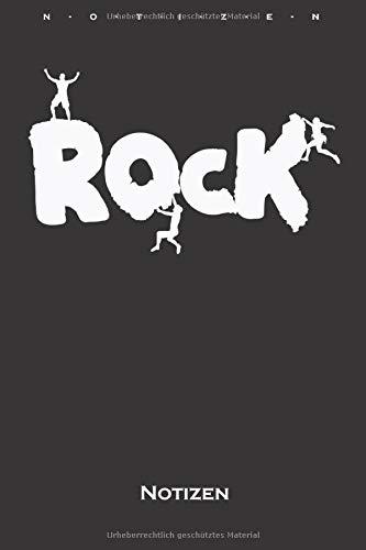 Klettern Bouldern Rock Notizbuch: Liniertes Notizbuch für Kletterfans und Fitnessbegeisterte