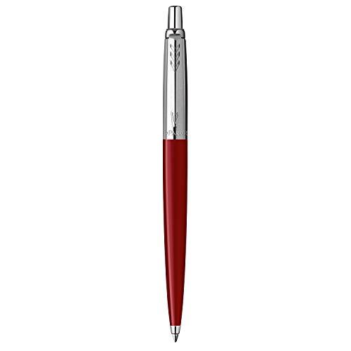 Parker Jotter Originals Penna a Sfera, Punta Media, Inchiostro Blu, Rosso Classico