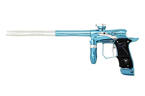 Dangerous Power G5 Spec-R Paintball Gun with OLED Board - Nova (Polished Turquoise/Silver)