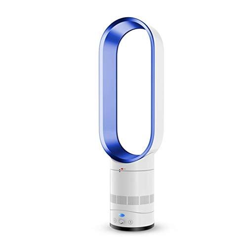 Adesign Home Desktop Silent Faurless Fan Ventilador eléctrico con Base de Soporte, purificación de Iones Negativos Ventilador de enfriamiento (Color : Blue)