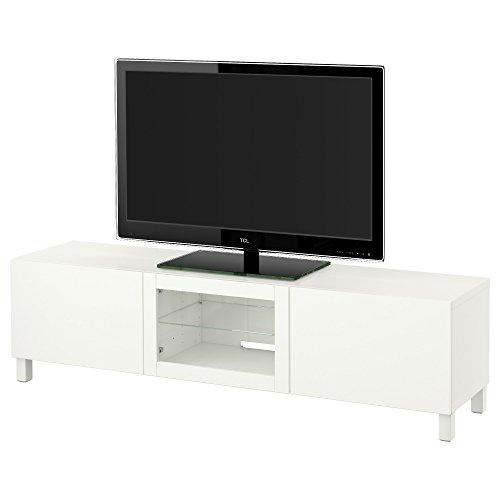 IKEA BESTA–TV Bank mit Schubladen und Tür lappviken weiß klar Glas