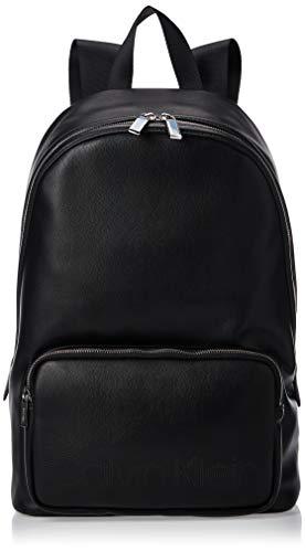 Calvin Klein - Punched Round Backpack, Shoppers y bolsos de hombro Hombre, Negro (Black), 0.1x0.1x0.1 cm (W x H L)