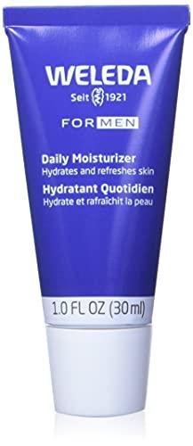 WELEDA FOR MEN Feuchtigkeitscreme – erfrischende Naturkosmetik Pflegecreme für trockene und empfindliche Männer Haut im Gesicht, zieht schnell ein und fettet nicht (1 x 30 ml)