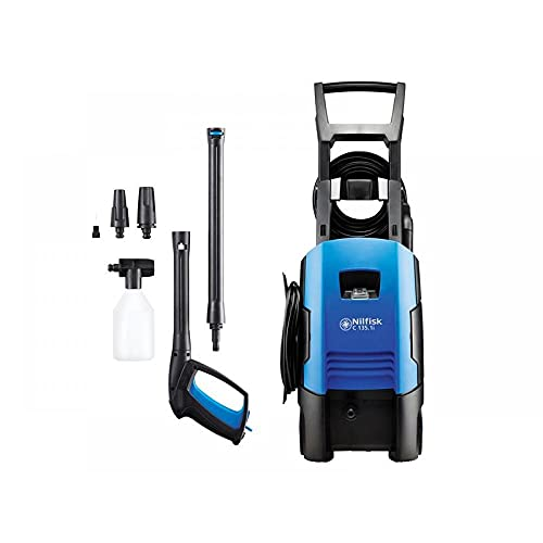 Nilfisk C 135 bar Pressure Washer with Induction Motor – Electric Power Washer for Household, Outdoor, Car Washing and Garden Tasks (Blue)