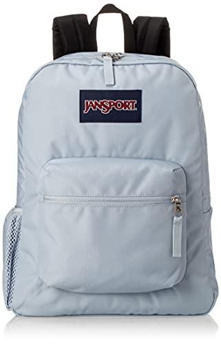JanSport Cross Town Rucksack – Schule, Reisen oder Arbeit Büchertasche mit Wasserflaschentasche, Blaue Abenddämmerung, Einheitsgröße