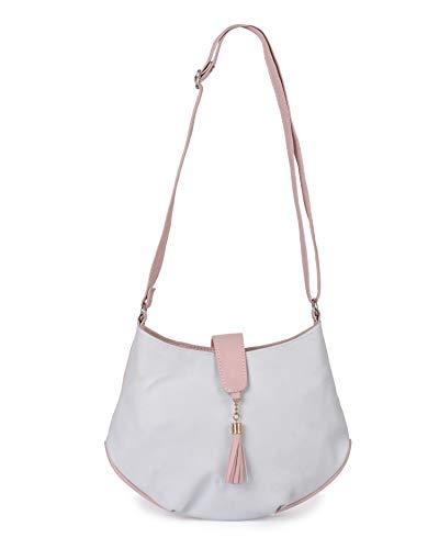 Aisna Women's Divine Sling Bag (ASNB-041)(Blue::Pink)