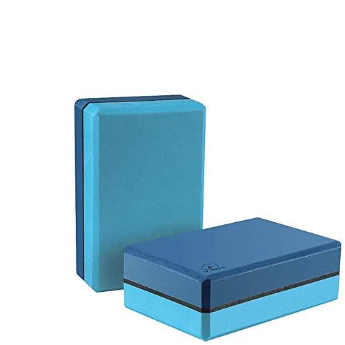 Bloque Yoga de Espuma EVA 2 Unidades, YUNMAI Set de Ladrillos de Yoga de Alta Densidad Antideslizante Inodoro Ecológico No Tóxico para Mejora de Equilibrio Flexibilidad de Pilates Yoga Meditación Azul