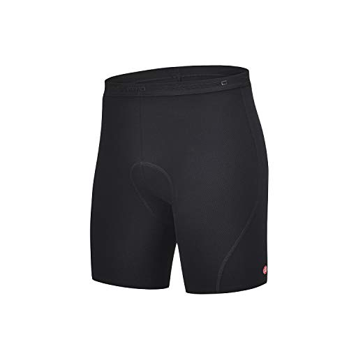 THRLEGBIRD Men's Cycling Underwear 3D Padded Bike Shorts, MTB Liner Shorts Bike Shorts Men High Waist Ergonomic Design (Black, XL)