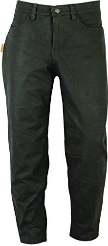 Jagd Stiefelhose Leder, Lederhose Herren Damen lang - Lederjeans- Fuente Echt Leder Lederhose Jeans 501- Jagdlederhose (46, Braun)