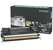 LEXMARK C734A1KG - Cartucho de tóner láser, Color Negro