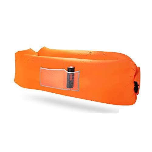 XUE-SHELF Aufblasbare Lounger Air Sofa ideal für Strand-Stuhl Camping Stühle oder tragbare Hängematte und beinhaltet Reisetasche Tasche und Taschen |,Orange