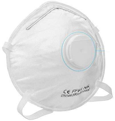 1x Atemschutzmaske FFP1 mit Ventil, Maske Atemschutz Mundmaske Mundschutz Atemschutzmaske zur Prophylaxe