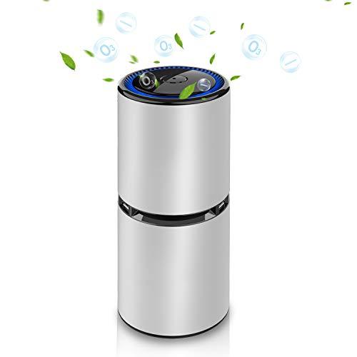 Purificador de Aire para Hogar, Generador de Ozono Portátil, Oxígeno Activo Descompone Olores y Elimina Polvo de Humo, Polen, Purificador de Aire para Exteriores, Habitaciones, Mascotas, Automóviles