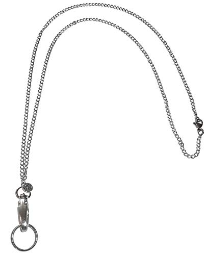 Stainless Steel Chain Women's Lanyard, Stronger, Made in USA, Badge Holder 34 inches, - Stainless Steel - Non Breakaway (Stainless Steel - Non Breakaway (Stronger))