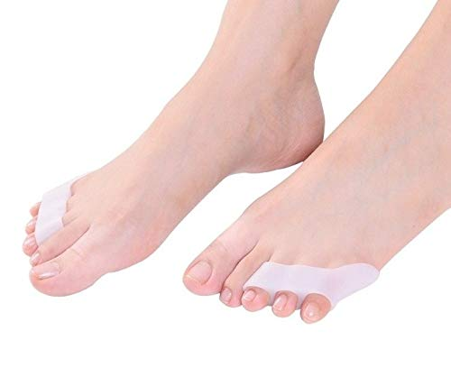 6 PCS Pinky Toe Separator, Bunion Pads for Treating a Hammer Toe, Overlapping Toe and Crooked.