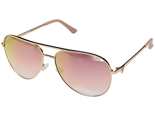 GUESS GF6098 Shiny Rose Gold/Bordeaux Mirror One Size