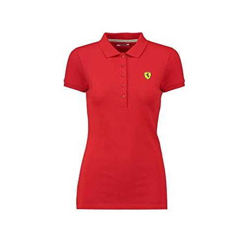 Scuderia Ferrari 2018 Damen Klassisches Poloshirt in Baumwolle, Größen XXS-XL