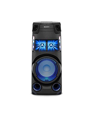 Sony MHC-V43D Bluetooth Party Lautsprecher (One Box HiFi Music System, Lautsprecherbeleuchtung, CD/DVD, HDMI, FM/DAB Tuner, App Steuerung), Schwarz
