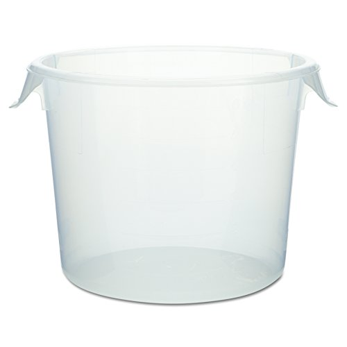 Rubbermaid Commercial 572324CLE Round Storage Containers, 6 qt, 10 dia x 7 5/8 h, Clear