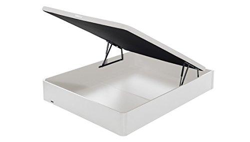 Flex - Canapé Abatible Madera Transpirable Tapa 3D - 180X200, Color Blanco