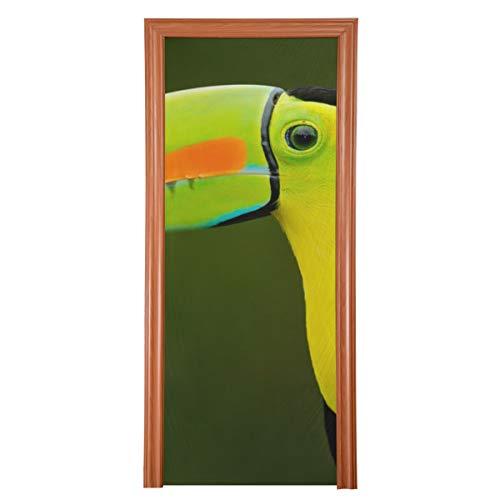 Decoración de puerta de entrada al aire libre Decoración de tucán de castaño-mandibled para puerta de entrada Tela duradera Decoración de pared de puerta de entrada Protector de puerta de vari