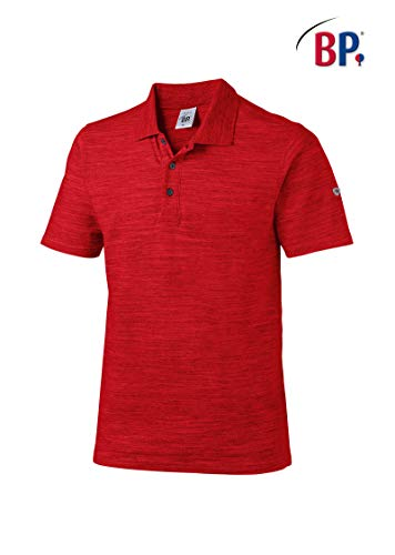 BP 1712-232 poloshirt voor hem en haar 85% katoen, 12% polyester, 3% elastaan Space Rood, maat XL
