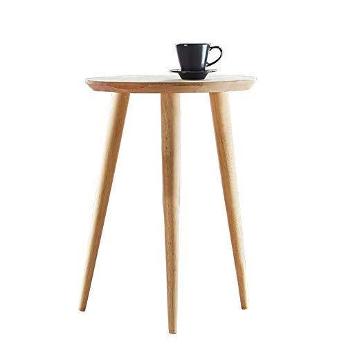 WoodShine Side Table Small Round Solid Wood Sofa Table End Tables Accent Nesting Coffee Table Natural(H:22inch)