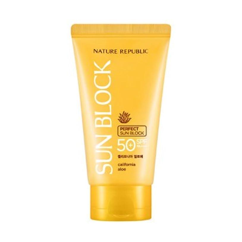 スペイン語協力技術的なNATURE REPUBLIC California Aloe Perfect Sun Block SPF50+ PA++++ 150ml / ネイチャーリパブリック カリフォルニアアロエパーフェクトサンブロック [並行輸入品]