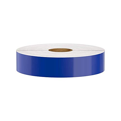 Premium Vinyl Label Tape for DuraLabel, LabelTac, VnM, SafetyPro and Others, Blue, 1