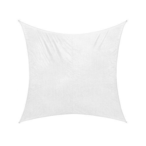 jarolift Sonnensegel Quadrat wasserabweisend, 360 x 360 cm, cremeweiß