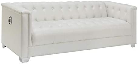 Coaster 505391 CO Chaviano Collection 87 Sofa with Padded Breathable Leatherette Upholstery product image