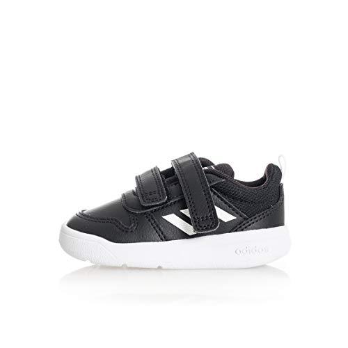 adidas Unisex Baby Tensaur I Sneaker, CBLACK/FTWWHT/CBLACK, 24 EU