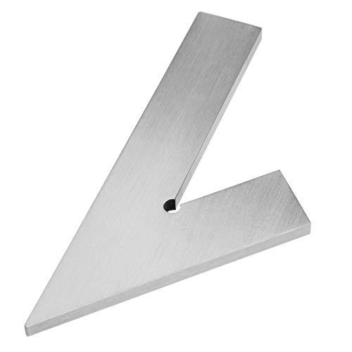LANTRO JS - 150x100mm Acero inoxidable 45 grados Regla de esquina de ángulo de inglete Herramientas de diseño de carpintería Herramientas de medición cuadradas de carpintería