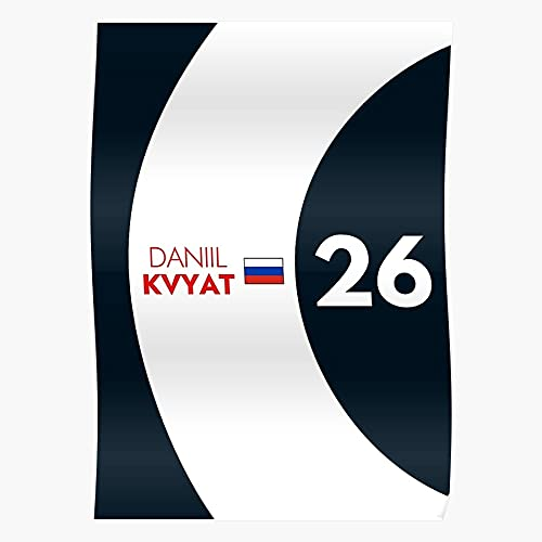 Cars One Kvyat Daniil Motorsport Formula Russia Racing F1 I Formula- The Best and Newest Poster for Wall Art Home Decor Room I Customize