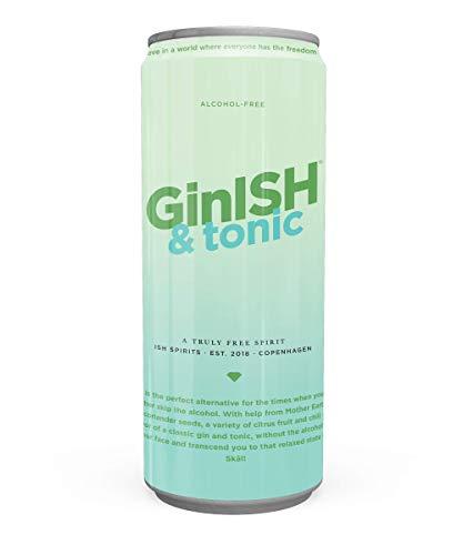 ISH GinISH and Tonic – alkoholfreie Gin Tonic - 24x 250ml - Cocktail Premix Dose, alkoholfreier Longdrink, Ready to Drink Spirituosen Mischgetränk
