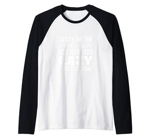 Niña bad-ass chica Camiseta Manga Raglan