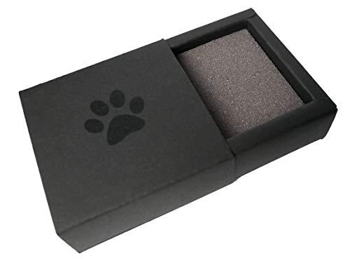 Kira Gates Pawprint Memory Box schwarz | Behalte den Pfotenabdruck deiner Katze dauerhaft, in 3D | ohne Dreck | schnelle und einfache Anwendung