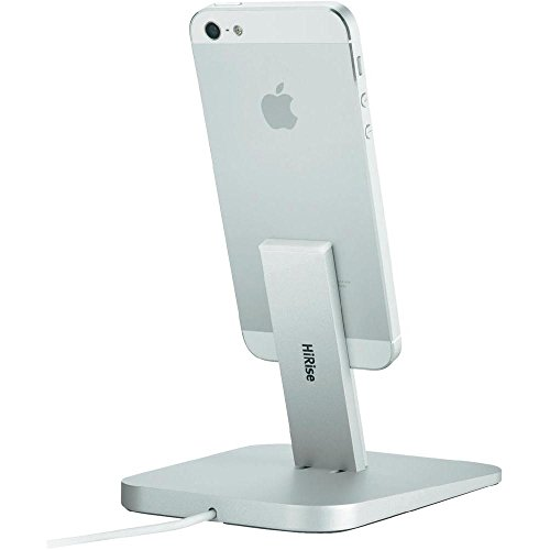 Twelve South HiRise for iPhone/iPad, Silver | Adjustable charging stand, requires Apple Lightning cable (not included)
