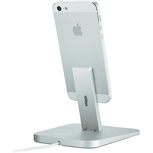 Twelve South 12-1307 Hirise Desktop Stand (geeignet für Apple iPhone 6/6s, 6/6s Plus, 5, 5s, 5c / iPad mini / iPod touch) silber