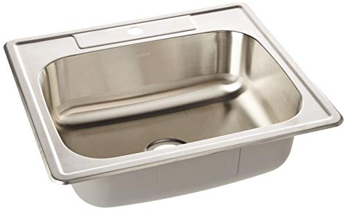 ZUHNE Drop In Kitchen, Bar and RV Stainless Steel Sink (25x22 Single Bowl)