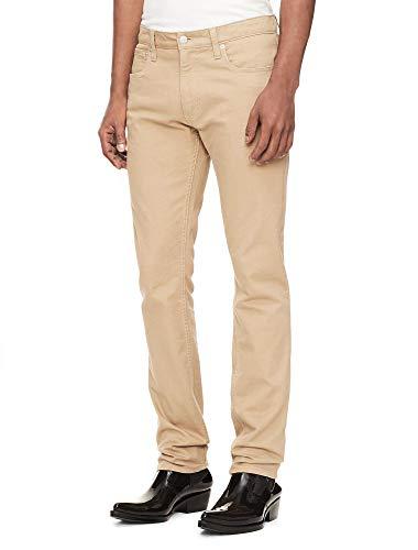 Calvin Klein Jeans Men's 5 Pocket Stretch Cotton Twill Pants, Cantucci, 33x32