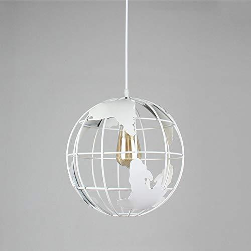 Hanglamp A Terra modern van metaal landkaart Del Mondo hanglamp rond een kamerdeken, geschikt voor eetkamer, slaapkamer, woonkamer in hoogte verstelbaar