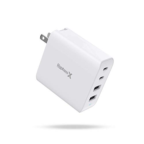 USB C Charger, Hyphen-X 100W GaN PPS Type C Fast PD Charger Compatible with MacBook Pro Air, iPhone, iPad Pro, Galaxy, Dell XPS USB C Laptop Devices 4 Ports(White)