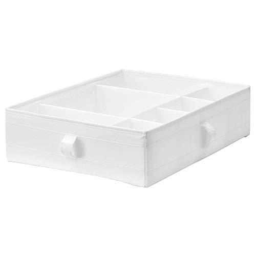 Ikea SKUBB Caja con compartimentos, blanco 17 ¼x13 ½x4 ¼ ' (44x34x11 cm)