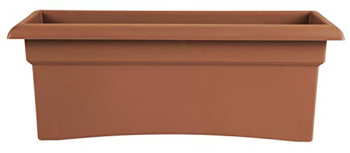Bloem 57026C Fiskars Veranda Deck Box Planter, Clay, 26'